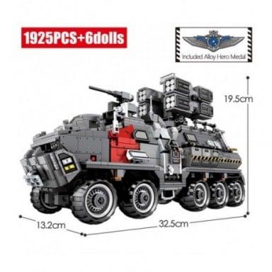 SEMBO City, transportador de tierra ambulante, bloques de construcción de automóviles, tanque técnico militar, furgoneta de carg