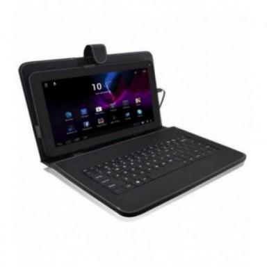 Precio de fábrica 10,1 ''pulgadas para Android Tablet PC Funda de cuero cubierta USB teclado Stand 51215