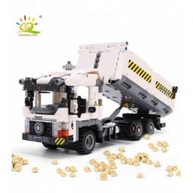 Camión de basura de Ingeniería Técnica HUIQIBAO 799 Uds., bloques de construcción para vehículos, juego de ladrillos para vehícu