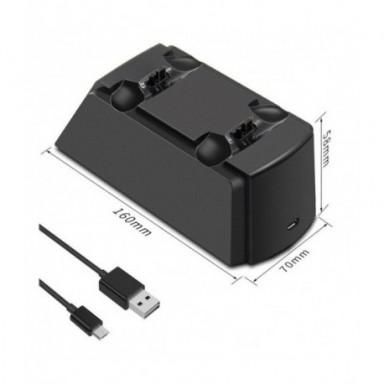 SeenDa base con tomas de control cargador para PS4 de carga Estación de soporte cuna para Sony Playstation 4 PS4 / PS4 Pro /PS4