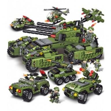 2020 710 Uds tanque de bloques de construcción vehículo avión niño juguetes figuras bloques educativos militar Compatible LegING