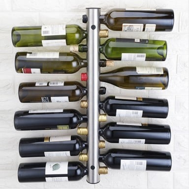 Rack de vino para 12 botellas acero inoxidable