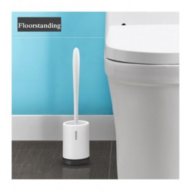 Cepillo y soporte de inodoro TPR, utensilios cepillo de limpieza de drenaje rápido para inodoro, hogar, WC, juegos de accesorios