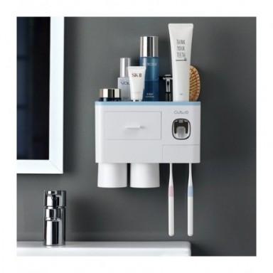 Set organizador de accesorios para baño, soporte automático para cepillos de dientes, dispensador de pasta de dientes, soporte p