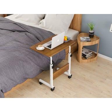 Mesa ajustable para computador caoba