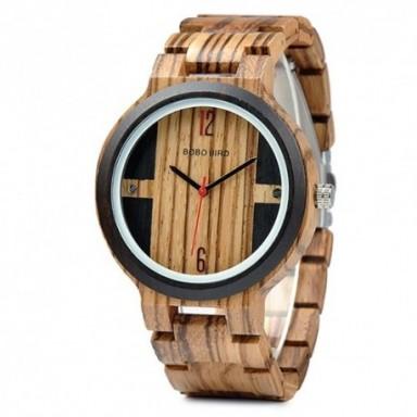 Reloj BOBO BIRD de madera para hombre, reloj de pulsera de cuarzo, nuevo diseño de relojes para hombre y mujer, reloj de madera,