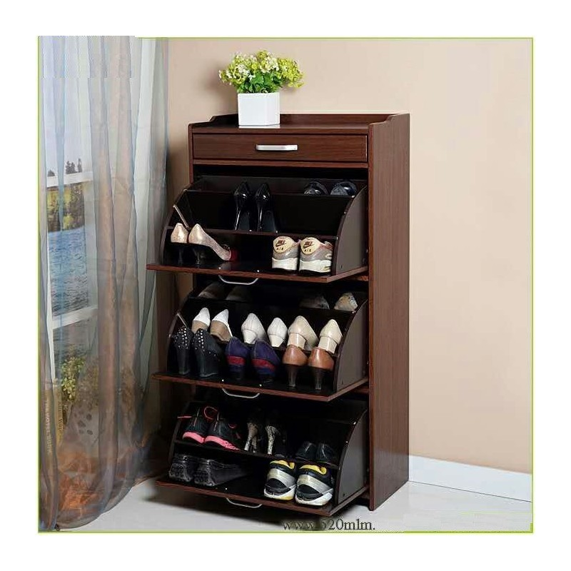 Mueble zapatero para 27 pares 100 madera el container for Mueble zapatero 30 pares