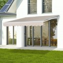 Toldo Retractil 3x2,5 mts Light Beige Terraza y Jardin