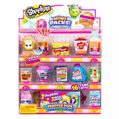 Shopkins pack De 8 piezas de Juguete de supermercado
