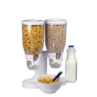Dispensador de cereales doble