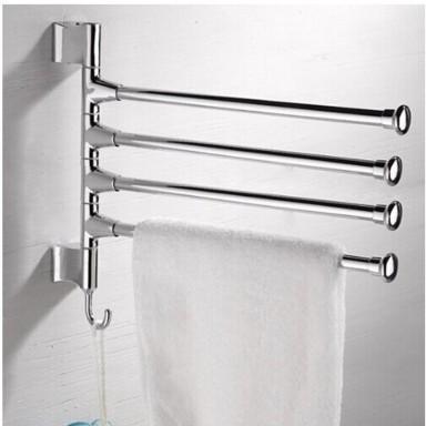Barra rotatoria para 4 toallas de baño