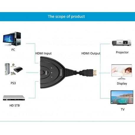 Switch HDMI 3 en 1