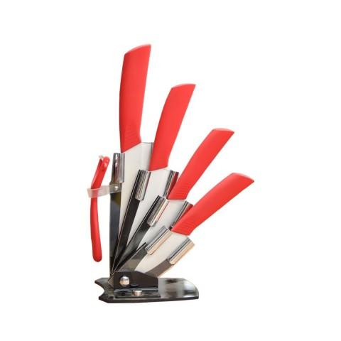 Cuchillos Cocina Cerámica. Juego Cuatro cuchillos mas soporte y pelador. Hogar