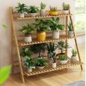 Pérgola para Terrazas de Bambu. Tres niveles. Muebles