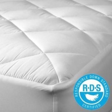 Cubre colchón con relleno de pluma / Certificado RDS