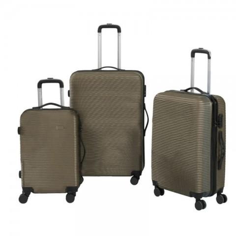 Set 3 maletas rigidas con giro 360° Beige Maletas