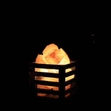 Lámpara de Sal Himalaya con Base cuadrada