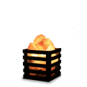 Lámpara de Sal Himalaya con Base cuadrada Decoración