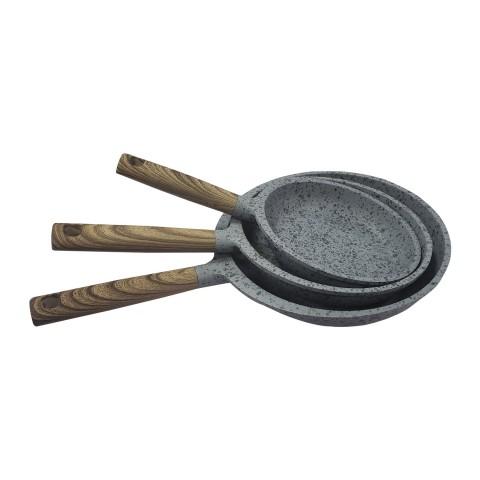 Sartenes de piedra. Set 3 unidades Cocina