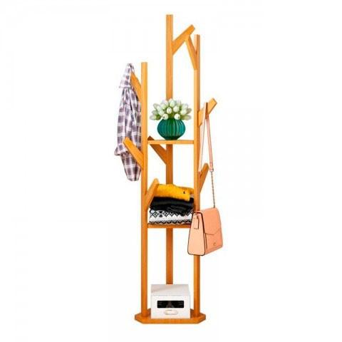 Perchero de tres brazos de bambu Muebles