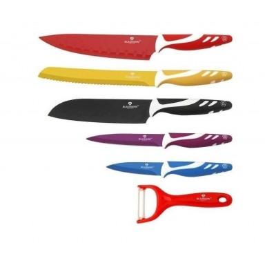 Set de 6 cuchillos de acero colores