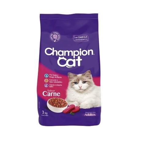 Champion Cat 6 x 3 Kgrs Carne. Pack de 6 Bolsas 3 Kgr. Mascotas