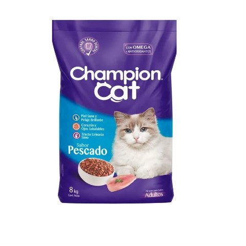 Champion Cat Pescado. Pack 6 x 3 Kgr Mascotas