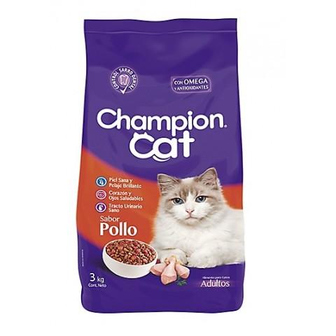 Champion Cat Pollo. Pack 6 x 3 kgrs Mascotas