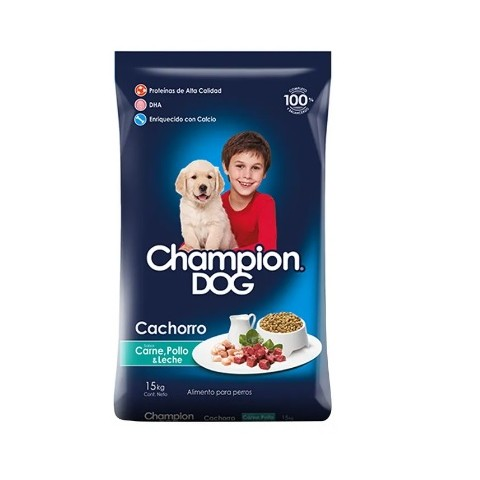 Alimento Perros. Champion Dog Cachorro 15 Kgrs C&P Mascotas
