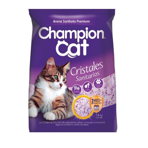 Cristales Sanitarios para Gatos 1,6Kgrs. Champion Cat Gatos