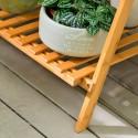 Pérgola de bamboo 3 niveles con soporte Muebles