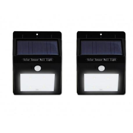 2 Focos solares LED con sensor de movimiento