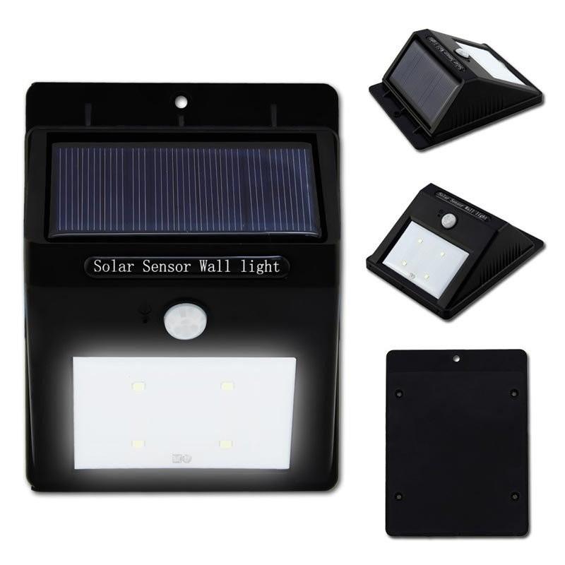 Foco solar led con sensor movimiento - Focos solares exterior ...