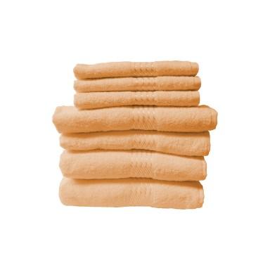 Set 7 toallas algodón marca Dohler salmón