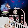 Bebé Rattles Crib móviles juguete titular giratorio móvil cama campana Musical caja proyección 0-12 meses recién nacido bebé niñ