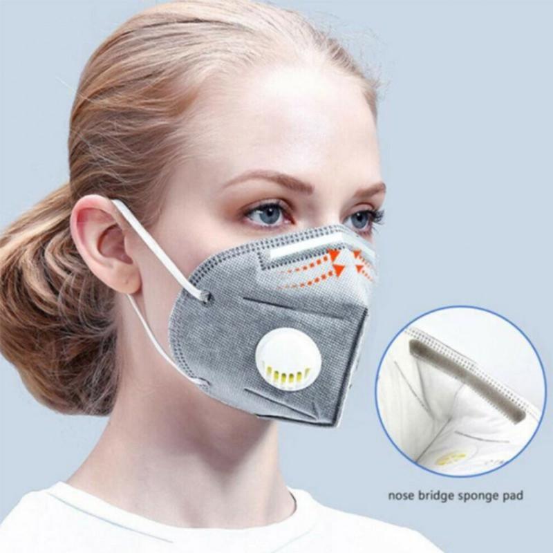 Máscara KN95 para niños adultos PM25 respirador Covid 19 Virus Haze polvo boca gorra tipo máscaras con válvula de respiración...