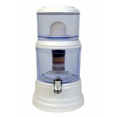 Dispensador y filtro de agua con piedras purificadoras de 16L