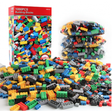 1000 piezas DIY bloques de construcción a granel establece ciudad creativo creador técnico clásico ladrillos montaje juguetes Br