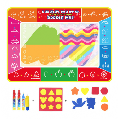 Alfombra de dibujo de agua de tamaño grande 120*90cm con bolígrafo mágico tablero de pintura alfombra de niños juguetes de Forma