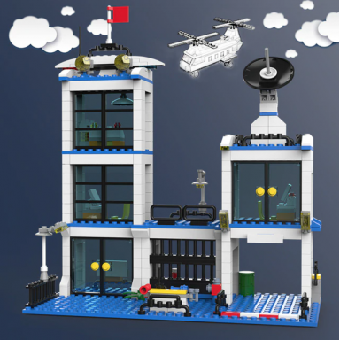 1122 piezas de SWAT de la policía de la ciudad de serie bloques de construcción del vehículo helicóptero de policía de la ciudad