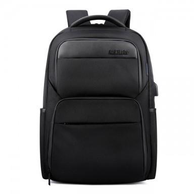 Mochilas antirrobo de carga USB para hombre a prueba de golpes impermeables 15,6 pulgadas negras para hombre mochilas para portá