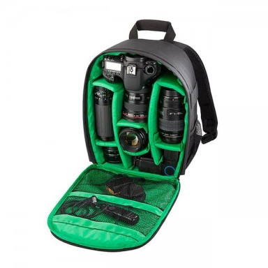 Bolsa de cámara Digital Dslr bolsa impermeable a prueba de golpes mochila de cámara transpirable para Nikon Canon Sony pequeño V