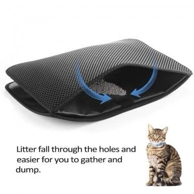 Impermeable Gato alfombra de cama EVA doble capa gato captura mascotas gatos cachorros Mat limpio de productos para gatos Acceso