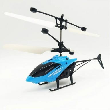 Mini RC Drone Fly RC helicóptero Suspensión de Avión Helicóptero de inducción niños juguete LED luz de Control remoto juguetes p