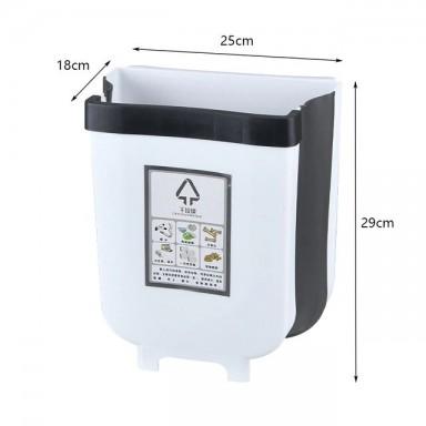 Cubo de basura plegable armario de cocina puerta colgar basura cubo montado en la pared bote de basura para el baño almacenamien