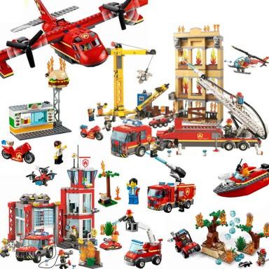 2019 nueva 60110 Compatible con lepining series de la ciudad de 60216 de la estación de bomberos bloques de construcción en mini